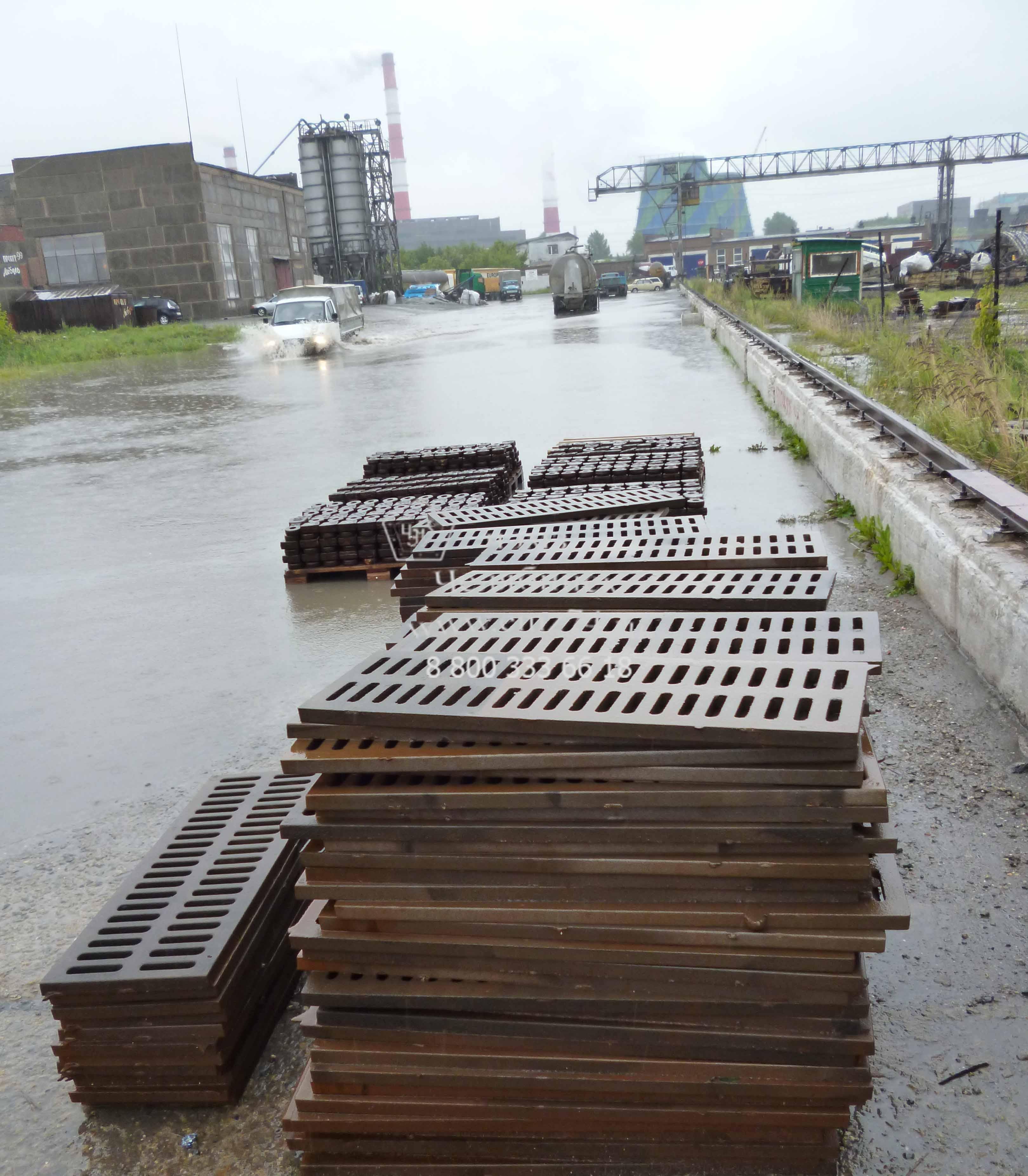 Производство ливневых решеток на заводе ЧЭМЗ