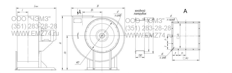 Схема радиальных вентиляторов для дымоудаления 85-77 ДУ на сайте ЧЭМЗ